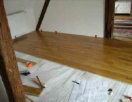 Les travaux de construction ao t 2015 for Pose parquet contrecolle flottant